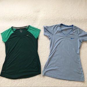 Nike Workout Shirts Bundle 2 Medium Regular Fit